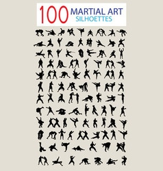 Martial Art Silhouettes vector image