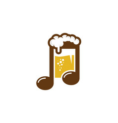 Music beer logo icon design vector
