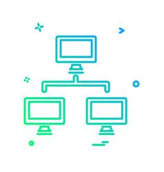 network icon design vector image