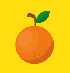 Orange fresh and healthy fruit vector