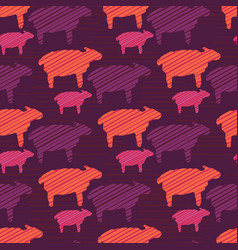 Orange purple and pink colorful baby sheep vector