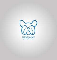 outline bulldog logo concept vector image