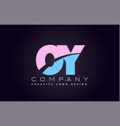 Oy alphabet letter join joined letter logo design vector
