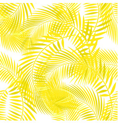 Pattern with yellow palm leaves vector