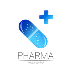 pharmacy symbol with blue cross vector image