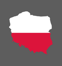 Poland flag and map vector