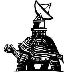 Radio Turtle vector image