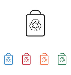 recycle bag icon vector image