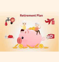 retirement plan concept vector image