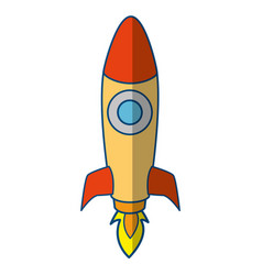rocket spaceship symbol vector image