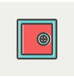 Safe vault thin line icon vector image