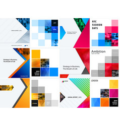 set of abstract design for graphic template vector image