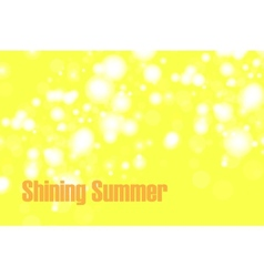 Shiny summer bokeh vector image