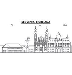 slovenia ljubljana architecture line skyline vector image vector image