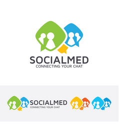 social media logo design vector image