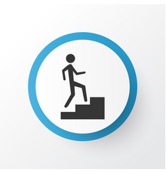 step up icon symbol premium quality isolated vector image