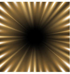 Tunnel of light golden color vector