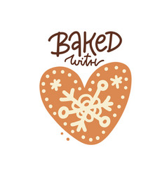 valentine s day gingerbread cookies greeting card vector image