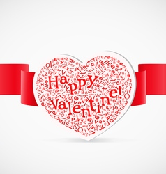 Valentines day greeting card with letters vector