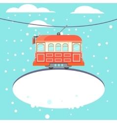 Winter tram vector image