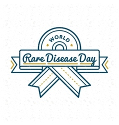 World Rare Disease Day greeting emblem vector