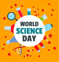 world science day concept background flat style vector image