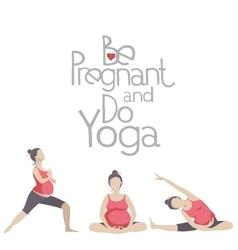 Yoga for pregnant women vector