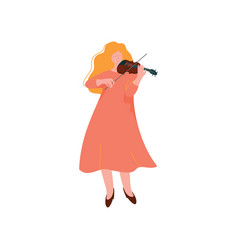 young woman playing violin female musician vector image