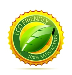 Eco friendly gold icon vector image