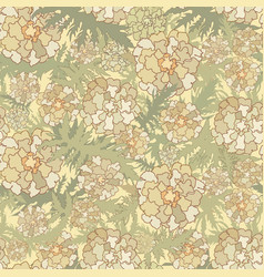 floral pattern flowers leaves seamless background vector image vector image