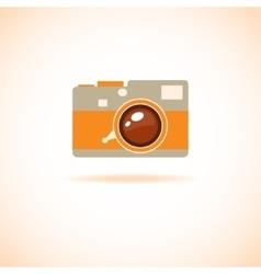 hand drawn photo camera vector image