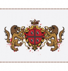 lion crest vector image vector image