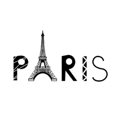 PARIS sign with Eiffel Tower vector image