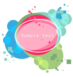 shapes background vector image vector image