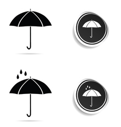 umbrella black with rain vector image vector image