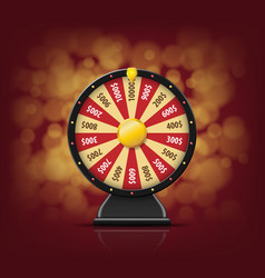 black fortune wheel with on bokeh background for vector image vector image