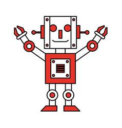 robot toy cartoon vector image