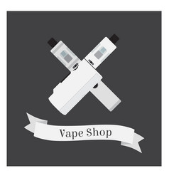 set of vape shop with e-cigarettes vapor liquid vector image