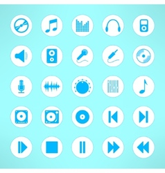 Audio icons set made in clean and simple design vector image vector image