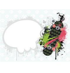 Background with skate vector image vector image