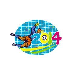 Brazil 2014 Goalie Football Player Retro vector image vector image