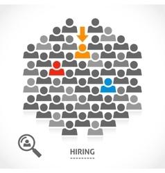 Concept of hiring new vacancy vector image