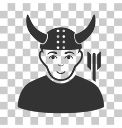 Horned Warrior Icon vector image