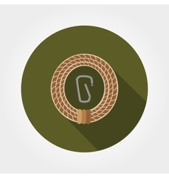 Rope with carabiner vector image