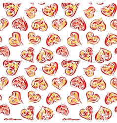 Seamless love background vector image
