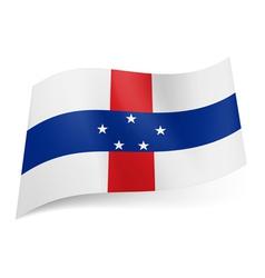 State flag of Netherlands Antilles vector image