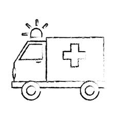 Ambulance with siren icon image vector