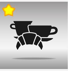 breakfast black icon button logo symbol vector image vector image
