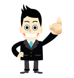 A businessman pointing finger first number one vector