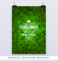 Abstract background with christmas greeting text vector